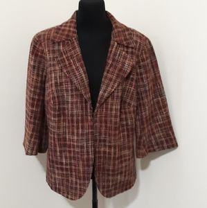 Coldwater Creek Pink Purple Tweed Jacket 20